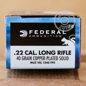 Picture of 22 LR FEDERAL GAME-SHOK 40 GRAIN RN (50 ROUNDS)