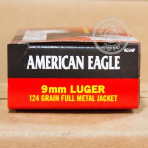 Picture of 9MM LUGER FEDERAL AMERICAN EAGLE 124 GRAIN FMJ (1000 ROUNDS)