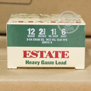 "Picture of 12 GAUGE ESTATE CARTRIDGE HEAVY GAME LOAD 2-3/4"" 1-1/4 OZ. #6 SHOT (25 ROUNDS)"