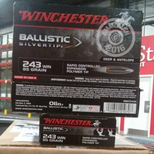 Picture of 243 WIN 95 GRAIN WINCHESTER BALLISTIC SILVERTIP (20 ROUNDS)