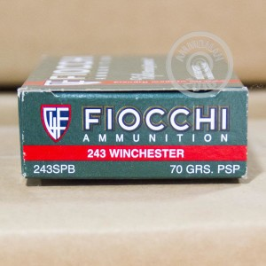 Picture of 243 WIN FIOCCHI SHOOTING DYNAMICS 70 GRAIN PSP (20 ROUNDS)