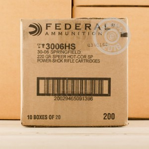 Picture of 30-06 SPRINGFIELD FEDERAL POWER-SHOK 220 GRAIN SP (20 ROUNDS)