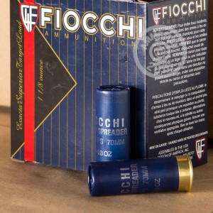 """Picture of 12 GAUGE FIOCCHI SPREADER 2-3/4"""" 1 1/8 OZ #8 SHOT (250 ROUNDS)"""