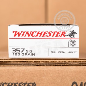 Picture of 357 SIG WINCHESTER USA 125 GRAIN FULL METAL JACKET (50 ROUNDS)