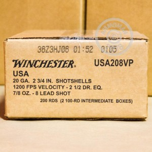 "Picture of 20 GAUGE WINCHESTER USA GAME & TARGET 2-3/4"" 7/8 OZ. #8 SHOT (100 ROUNDS)"