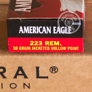 Picture of 223 REMINGTON FEDERAL AMERICAN EAGLE 50 GRAIN JHP (20 ROUNDS)