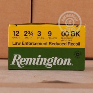 "Picture of 12 GAUGE REMINGTON LOW RECOIL 2-3/4"" #00 BUCK 9 PELLETS (250 ROUNDS)"