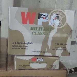 Picture of 30-06 SPRINGFIELD WOLF MILITARY CLASSIC 168 GRAIN SOFT POINT (500 ROUNDS)