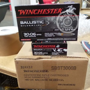Picture of 30-06 SPRINGFIELD WINCHESTER BALLISTIC SILVERTIP 180 GRAIN POLYMER TIP (20 ROUNDS)