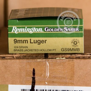 Picture of 9MM REMINGTON GOLDEN SABER 124 GRAIN JACKETED HOLLOW POINT (25 ROUNDS)