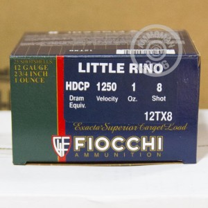 "Picture of 12 GAUGE FIOCCHI LITTLE RINO 2-3/4"" GRAIN #8 SHOT (250 ROUNDS)"