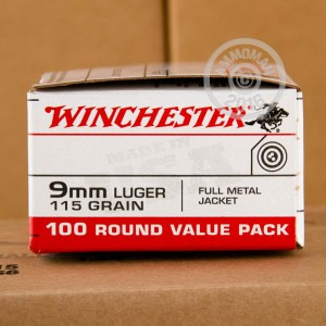 Picture of 9MM LUGER WINCHESTER 115 GRAIN FMJ (1000 ROUNDS)