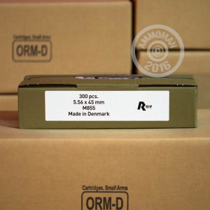 Picture of 5.56x45MM 62 GRAIN FULL METAL JACKET - M855 (300 ROUNDS)
