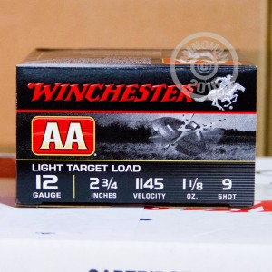 "Picture of 12 Ga - 2-3/4"" #9 AA Light Target - Winchester - 250 Rounds"
