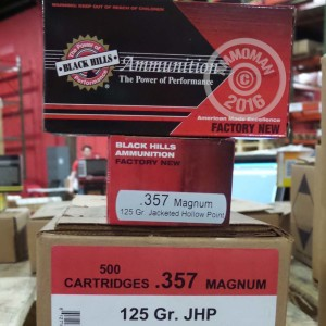 Picture of 357 MAGNUM BLACK HILLS 125 GRAIN JHP (50 ROUNDS)