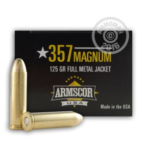 Picture of 357 MAGNUM ARMSCOR 125 GRAIN FMJ (1000 ROUNDS)