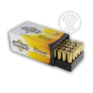 Picture of 357 MAGNUM ARMSCOR 125 GRAIN FMJ (50 ROUNDS)