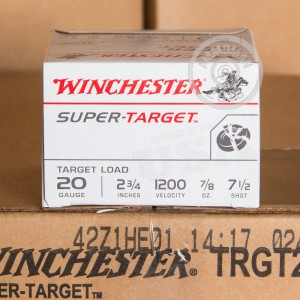 "Picture of 20 GAUGE WINCHESTER SUPER TARGET 2-3/4"" #7.5 SHOT (250 ROUNDS)"