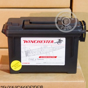 Picture of 7.62 NATO WINCHESTER AMMO CAN 147 GRAIN FMJ (120 ROUNDS)
