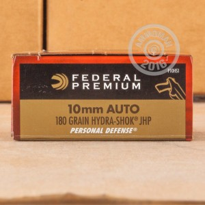 Picture of 10MM AUTO FEDERAL PREMIUM 180 GRAIN HYDRA-SHOK JHP (20 ROUNDS)