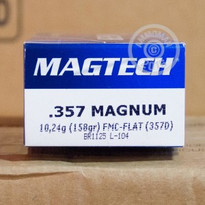 Picture of 357 MAGNUM MAGTECH 158 GRAIN FMJ (50 ROUNDS)
