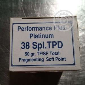 Picture of 38 SPECIAL RBCD PERFORMANCE PLUS TPD 50 GRAIN TFSP (20 ROUNDS)