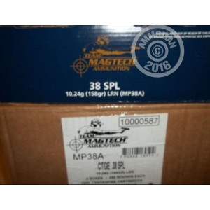 Picture of 38 SPECIAL MAGTECH SHOOTIN' SIZE 158 GRAIN LRN (1000 ROUNDS)
