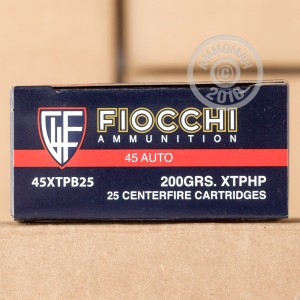 Picture of .45 ACP FIOCCHI SHOOTING DYNAMICS 200 GRAIN JHP (25 ROUNDS)