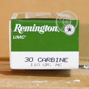 Picture of .30 CARBINE REMINGTON UMC 110 GRAIN MC (50 ROUNDS)