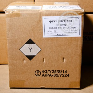 Picture of 303 BRITISH PRVI PARTIZAN 174 GRAIN FULL METAL JACKET BOAT TAIL (500 ROUNDS)