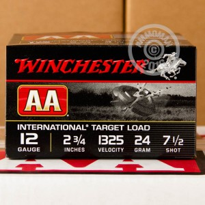"Picture of 12 GAUGE WINCHESTER AA INTERNATIONAL TARGET 2-3/4"" 7/8 OZ. #7.5 SHOT (25 ROUNDS)"
