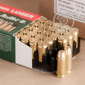 Picture of 9MM LUGER SELLIER & BELLOT 140 GRAIN FMJ (50 ROUNDS)