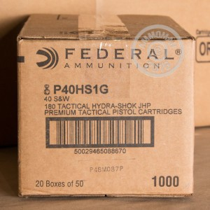 Picture of 40 S&W FEDERAL HYDRA-SHOK 180 GRAIN JHP (50 ROUNDS)