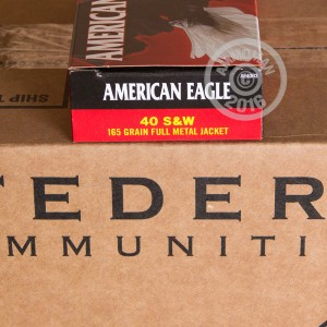 Picture of .40 S&W FEDERAL AMERICAN EAGLE 165 GRAIN FMJ (50 ROUNDS)
