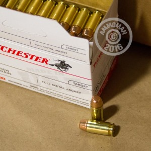 Picture of 40 S&W WINCHESTER USA 165 GRAIN FULL METAL JACKET (500 ROUNDS)
