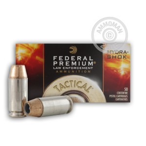 Picture of 40 S&W FEDERAL PREMIUM LAW ENFORCEMENT 155 GRAIN HYDRA SHOK JHP (50 ROUNDS)
