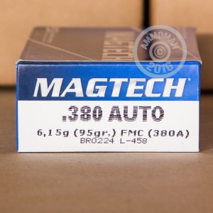 Picture of .380 AUTO MAGTECH 95 GRAIN FMC (1000 ROUNDS)