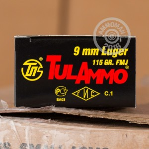 Picture of 9MM LUGER TULA 115 GRAIN FMJ (50 ROUNDS)