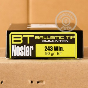 Picture of 243 WIN NOSLER 90 GRAIN BALLISTIC HUNTING TIP (20 ROUNDS)