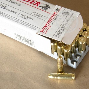 Picture of 7.62x25MM TOKAREV WINCHESTER METRIC CALIBERS 85 GRAIN FMJ (50 ROUNDS)