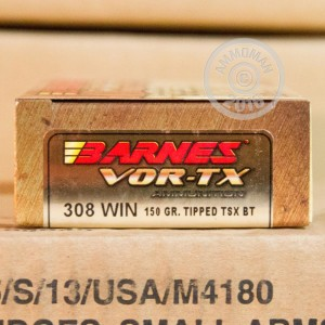 Picture of .308 WINCHESTER BARNES VOR-TX 150 GRAIN TTSX (200 ROUNDS)