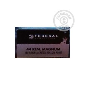 Picture of 44 MAGNUM FEDERAL POWER-SHOK 180 GRAIN SEMI-JACKETED HOLLOW POINT (20 ROUNDS)