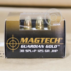 Picture of .38 SPECIAL +P MAGTECH GUARDIAN GOLD 125 GRAIN JHP (1000 ROUNDS)