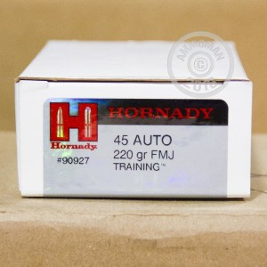 Picture of 45 ACP HORNADY TRAINING 220GR FMJ AMMO (50 ROUNDS)