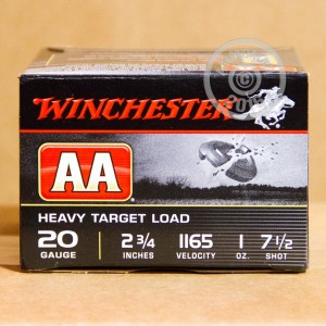 "Picture of 20 GAUGE WINCHESTER AA HEAVY TARGET 2-3/4"" 1 OZ. #7.5 SHOT (25 ROUNDS)"