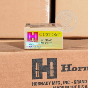 Picture of .40 S&W HORNADY CUSTOM XTP 155 GRAIN JHP (20 ROUNDS)