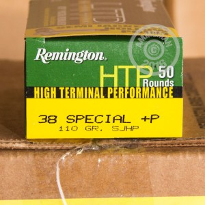 Picture of 38 SPECIAL +P REMINGTON HTP 110 GRAIN SEMI-JACKETED HOLLOW POINT (500 ROUNDS)