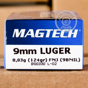 Picture of 9MM LUGER MAGTECH 124 GRAIN FMJ NATO (1000 ROUNDS)