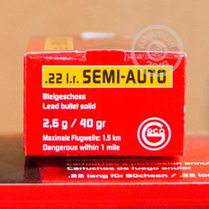 Picture of 22 LR GECO SEMI-AUTO 40 GRAIN LRN (50 ROUNDS)