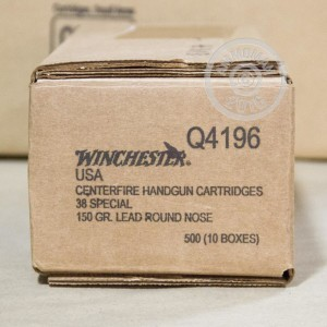Picture of 38 SPECIAL WINCHESTER 150 GRAIN LRN (50 ROUNDS)
